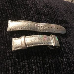 Michele Accessories - MICHELE Iridescent Holographic Leather 18mm Band