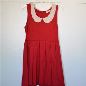 ModCloth Dresses & Skirts - Modcloth Red Peter Pan Collared Dress