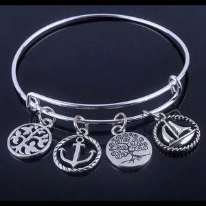 Alex And Ani Jewelry - WIRE BANGLE CHARM BRACELET