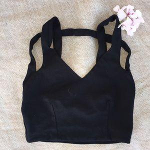 Lulu Tops - Lulu's strapy black crop top