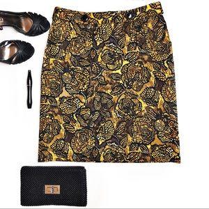 Etcetera Floral Skirt NWOT