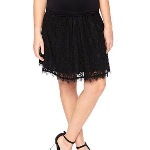 Motherhood Maternity Black Lace Skirt