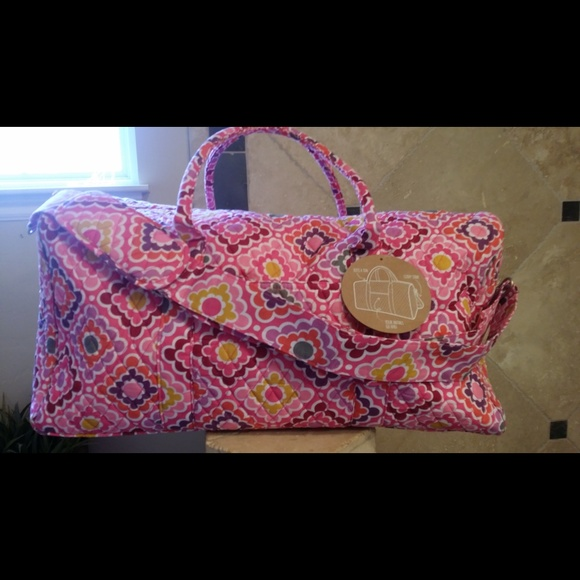 46% Off PB Teen Handbags - PB Teen Large Quilted Geometric Floral Duffle Bag From Vivianu0026#39;s ...