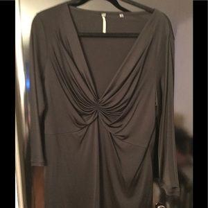 Marina Rinaldi Tops - Marina Rinaldi Women's Long Sleeve Top In Black.
