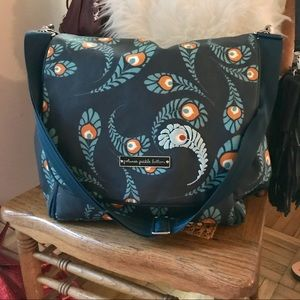 Petunia Pickle Bottom Handbags - Petunia Pickle Bottom Boxy Peacock Diaper Bag