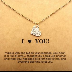 Dogeared Jewelry - I ❤️️ LOVE YOU / HEART CARD NECKLACE