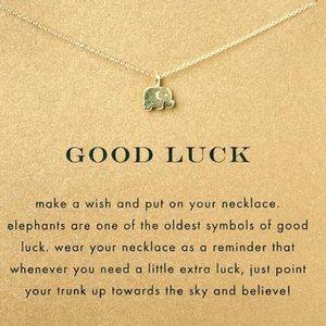 Dogeared Jewelry - ELEPHANT/GOODLUCK CARD NECKLACE
