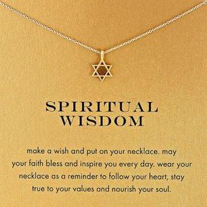 Dogeared Jewelry - SPIRITUAL WISDOM CARD NECKLACE