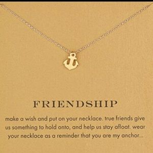 Dogeared Jewelry - ANCHOR/FRIENDSHIP CARD NECKLACE