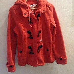 Sebby Jackets & Blazers - Orange and black coat