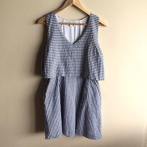 Paper Crane Dresses & Skirts - Striped chambray layered dress