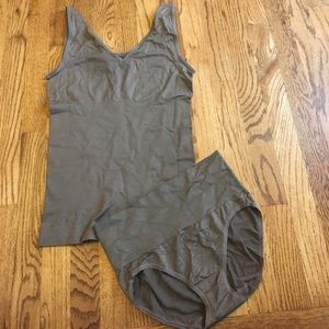 Yummie by Heather Thomson Other - Yummie shaping tank & panty set TAUPE