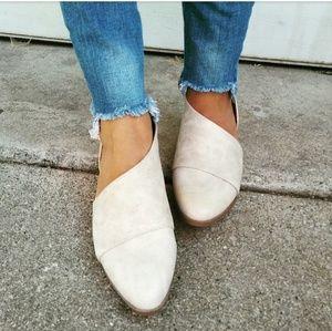 Strut! Shoes - //The Alexa// Stone vegan leather Flat