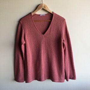 Zara v-neck slouchy sweater