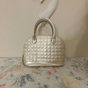 Tignanello Handbags - Metallic gold genuine leather Tignanello satchel