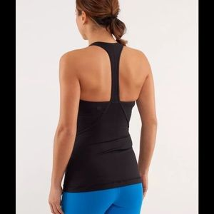 lululemon athletica Tops - LULULEMON POWER UP TANK RACERBACK TOP BLACK