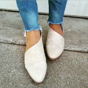 Strut! Shoes - //The Alexa// Stone vegan leather Flats