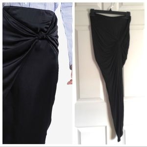 A+ Ellen Dresses & Skirts - 🔥TRENDING🔥 Knot Front Hi-Lo Skirt