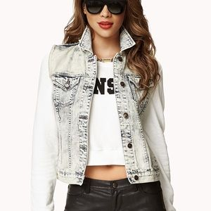 Forever 21 acid wash denim vest