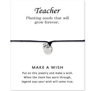 Teacher gift - Make a wish bracelet