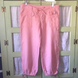 Allen Allen Pants - Pink washed Linen Pants