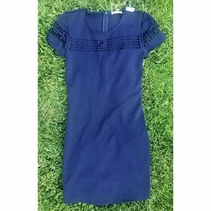 Soprano Dresses & Skirts - SOPRANO Navy Shift w/ Laser cut-out detail-NWT-XS