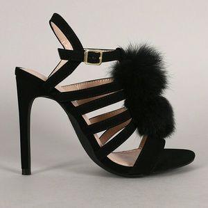 Shoe Republic LA Shoes - Shoe Republic LA Pom Pom Stiletto High Heels