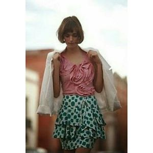 """Anthropologie Tops - Anthropologie """"Little Yellow Button"""" Winding Road"""