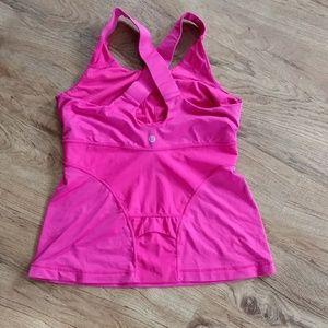 lululemon athletica Tops - Lululemon Hot Pink Repose Tank Top