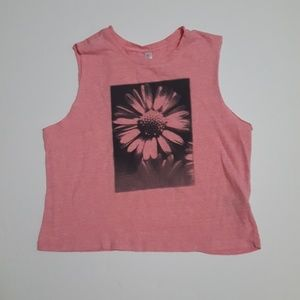 exhilaration Tops - Pink Daisy Crop Top