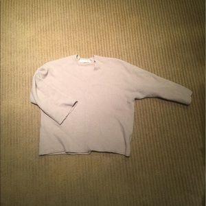 Beige cropped sweater