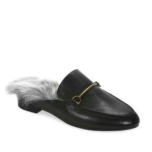 Gunmetal Shoes - Gunmetal Leather Fatima Mule NWT in Original Box