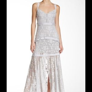 Elizabeth and James Lise Tiered Silk Maxi Dress