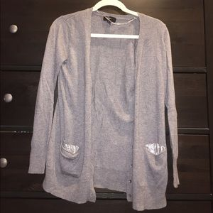 Aqua Sweaters - GREY CARDIGAN