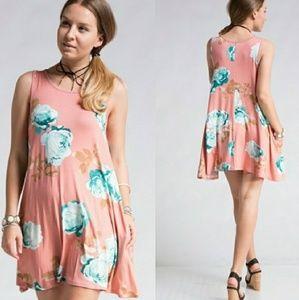 Dresses & Skirts - ❣ Peach Flower Swing Dress❣