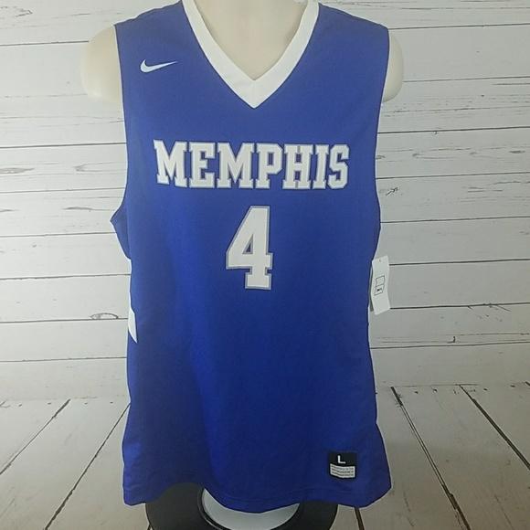 new product c5d3b baffa Nike Memphis Tigers Basketball Jersey Large NWT