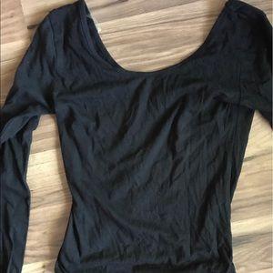 Krush Other - Girls long sleeve black leotard