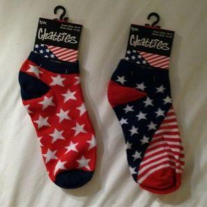 Chatties Accessories - Two Pair of Patriotic Socks Footies