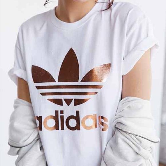 0f112710bb1 adidas Tops | Rose Gold Trefoil Tshirt | Poshmark
