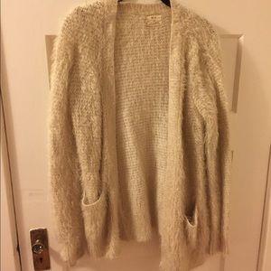 UO Pins & Needles Furry Cardigan