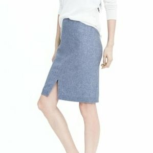 NWT BR Italian Flannel Light Blue Pencil Skirt