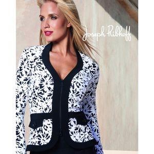 Joseph Ribkoff W&B Floral Embroidered Jacket