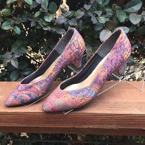 GORGEOUS Vintage Multicolor Tog Shop Heels 👠