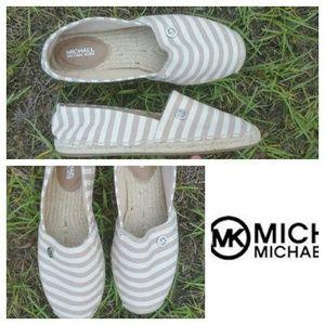 Michael Kors Shoes - Michael Kors espadrilles size 6.5 Natural Stripes