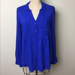Anthropologie Tops - Anthropologie button front pleat front shirt