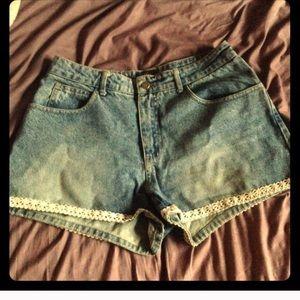 Paris blues embellished jean shorts 12