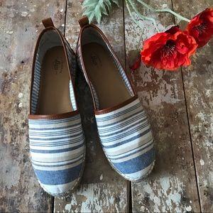 Bass Shoes - G.H. Bass & Co. Blue Summer Espadrille Flat