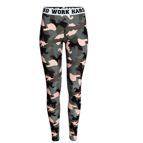 80bcd1d4ae69d H&M Pants | Hm Work Hard Play Hard High Waist Leggings | Poshmark