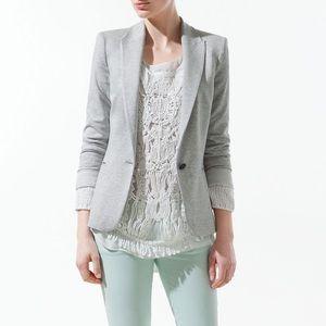 Zara Jackets & Blazers - Zara Gray Jersey Knit Blazer