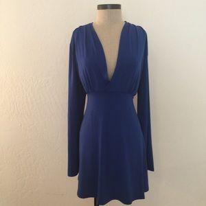 Dresses & Skirts - Blue Long Sleeve Skater Dress